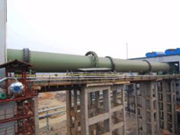 Sponge Iron Rotary Kiln for Russia Under